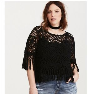 nwt!! torrid crochet pullover! insider collection!